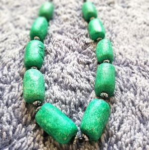 Emerald Green Stone Necklace